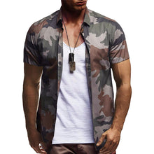 Load image into Gallery viewer, 2019 Summer Men's Casual Camouflage Printed Casual Short-Sleeved Shirt