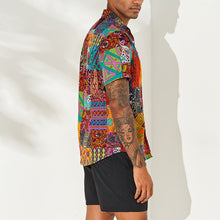 Load image into Gallery viewer, Men's Casual Slim Floral Short Shirt