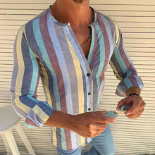 Load image into Gallery viewer, Fashion Colorful Stripe Slim Fit T-Shirt