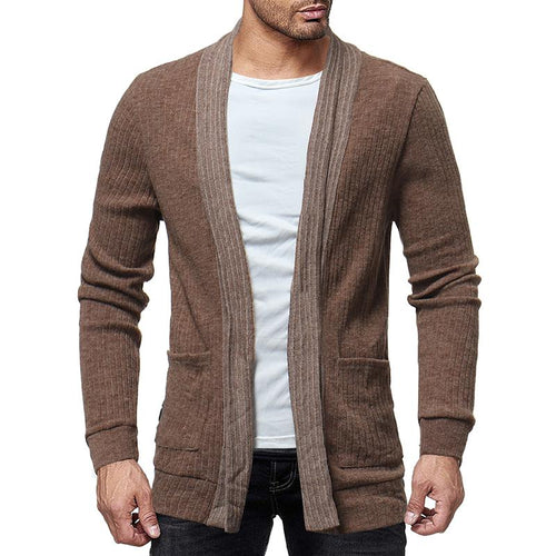 Casual Pure Colour Knit Cardigan Sweater