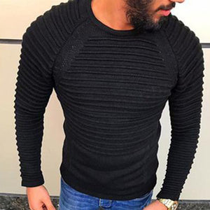 Fashion Pure Colour Round Neck Pullover Sweater
