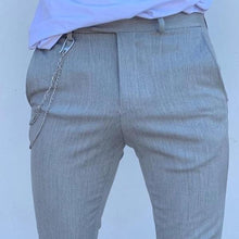Load image into Gallery viewer, Men's Pure Colour High-Waist Pencil Pants