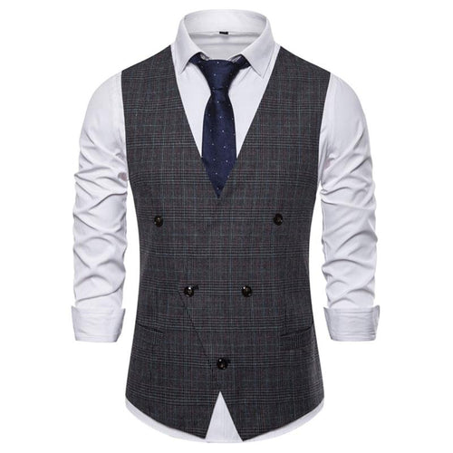 Fashion Men's British Suit V-Neck Slim Vests