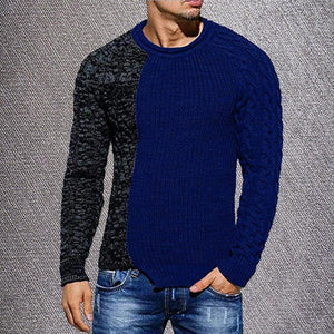 New Patchwork Contrast Color Knitwear