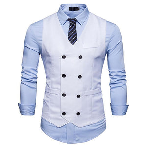 Fashion Business Casual Slim Solid Color Suit Vests