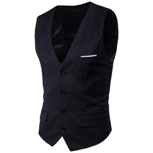 Fashion V-Neck Business Casual Slim Vests