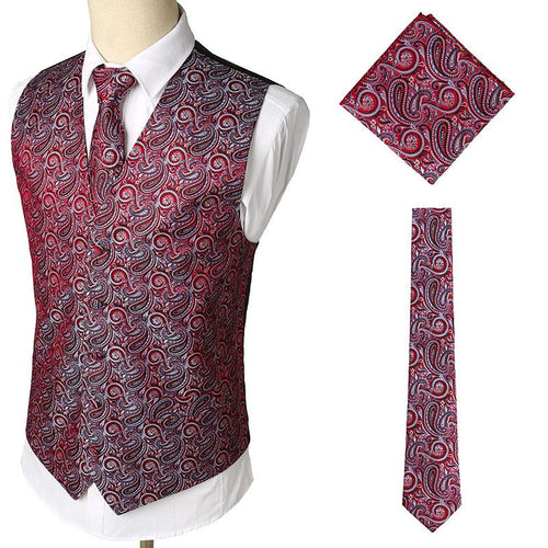 Fashion Printing Business Casual Three-Piece Vests