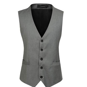 Fashion Men's V-Neck Single-Breasted Vest