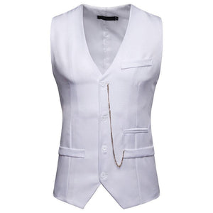 Fashion Solid Color Decorative Zipper Single-Breasted Vests