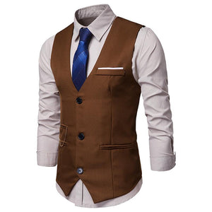 Casual Single Breasted Slim Man's Vest