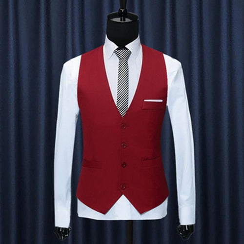 Business Slim V-Neck Men's Vest