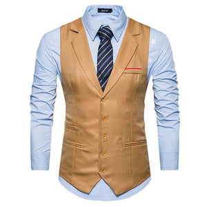 Business Single Breasted Man's Vest