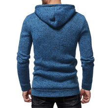 Load image into Gallery viewer, Fashion Double-Breasted Hat Rope Solid Color Long-Sleeved Slim Knit Hooded Sweater