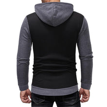 Load image into Gallery viewer, Fashion Stitching Casual Slim Zipper Hoodie Sweater