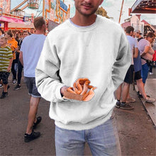 Load image into Gallery viewer, Men's Solid Color Round Neck Long Sleeve Pullover Sweater