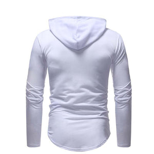 Fashion Hole Zipper Stitching Sweater