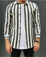 Load image into Gallery viewer, Men's Striped Fashion Cotton And Linen Warm Shirt