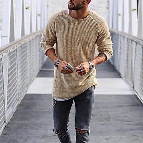 Basic Slim Long Sleeve Sweater