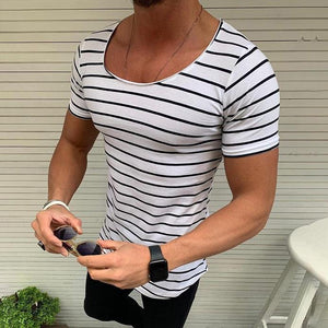 Summer Men's Casual Striped T-Shirt