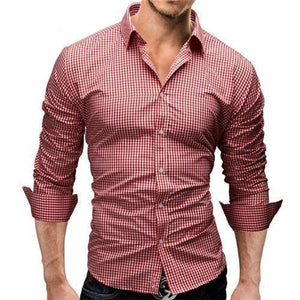 Fashion Loose Button Check Shirt