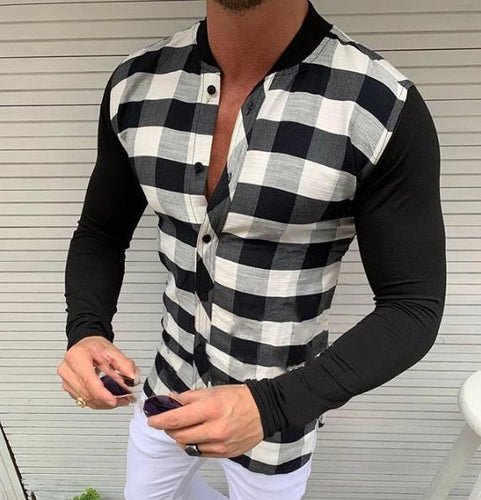 Casual Patchwork Long Sleeves Shirt