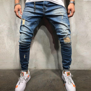 New Fashion Men's Hole Jeans Pants