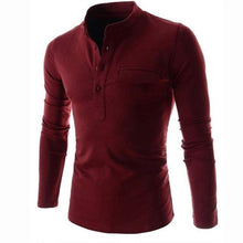 Load image into Gallery viewer, Men Solid Color Long Sleeve Shirt