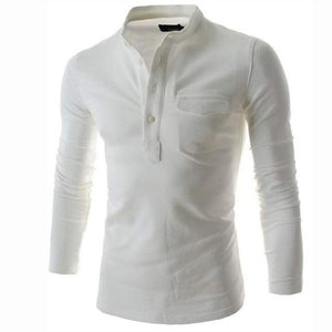 Men Solid Color Long Sleeve Shirt