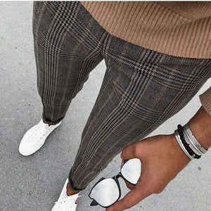 Men's Casual Plaid Printed Pants