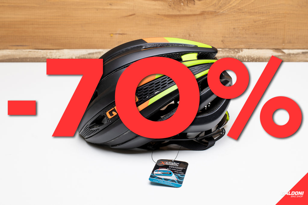 GIRO CASCO SYNTHE MATT BLACK/LIME FLAME TAGLIA S