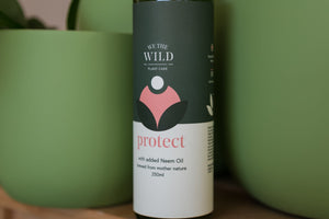 We the Wild Protect Spray with Neem- for pest and leaf issues + shine.