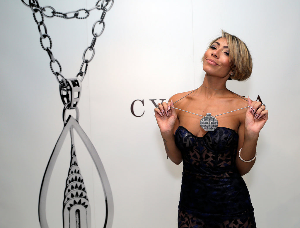 Bridget Kelly With a CGNY silver necklace