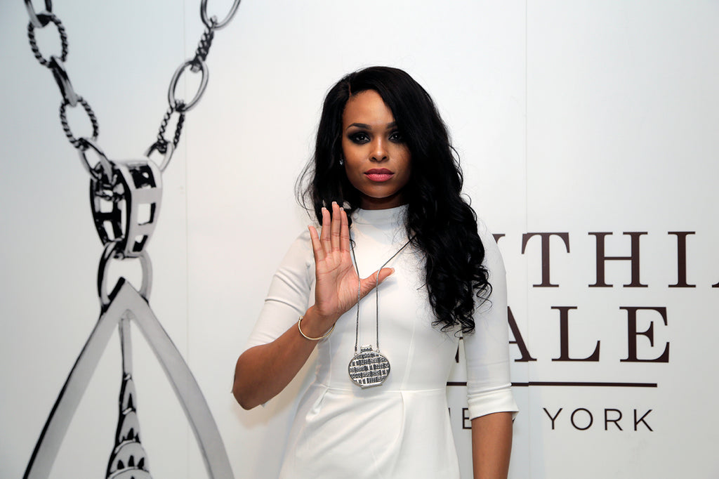 Demetria McKinney rocking a CGNY silver necklace