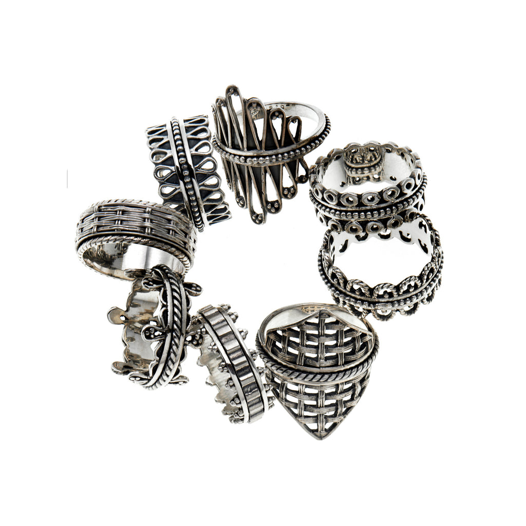 Sterling Silver Handmade Spin Rings by Cynthia Gale New York