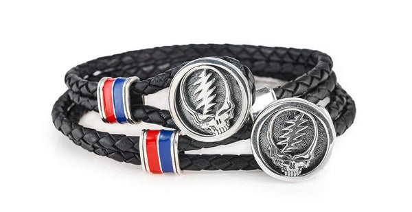 CGNY, Grateful Dead SYF Sterling Silver and Leather Bracelet, New York, 2020