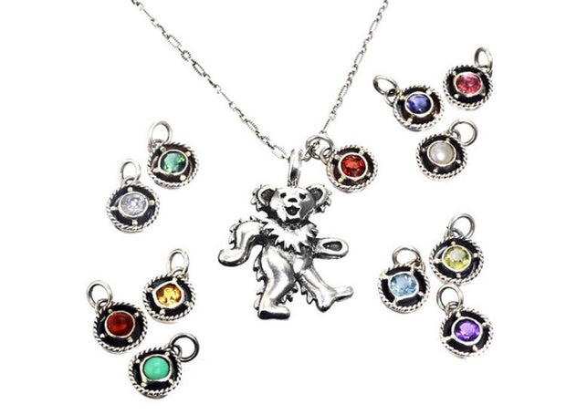 Dancing Bear Birthstone Charms