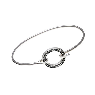 Rebel Punk tension Sterling Silver Bracelet - Cynthia Gale New York Jewelry
