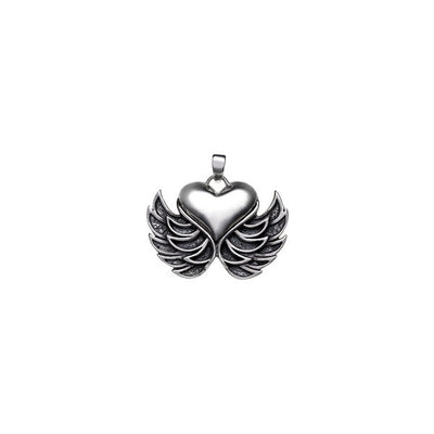Rebel Punk  Winged  Heart Sterling Silver Earring - Cynthia Gale New York Jewelry