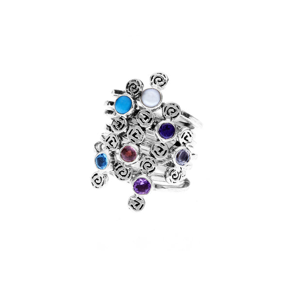 Barnes Metalwork Birthstone Sterling Silver Ring - Cynthia Gale New York - 1