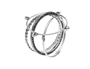 Elements Water Sterling Silver Bangle - Cynthia Gale New York Jewelry