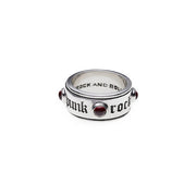 Rebel Punk Punk-Rock -Rebel Sterling Silver Spin Ring - Cynthia Gale New York Jewelry