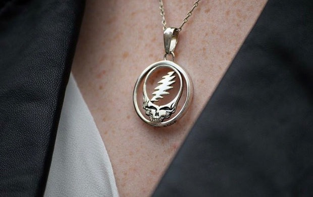 Steal Your Face Sterling Silver Necklace