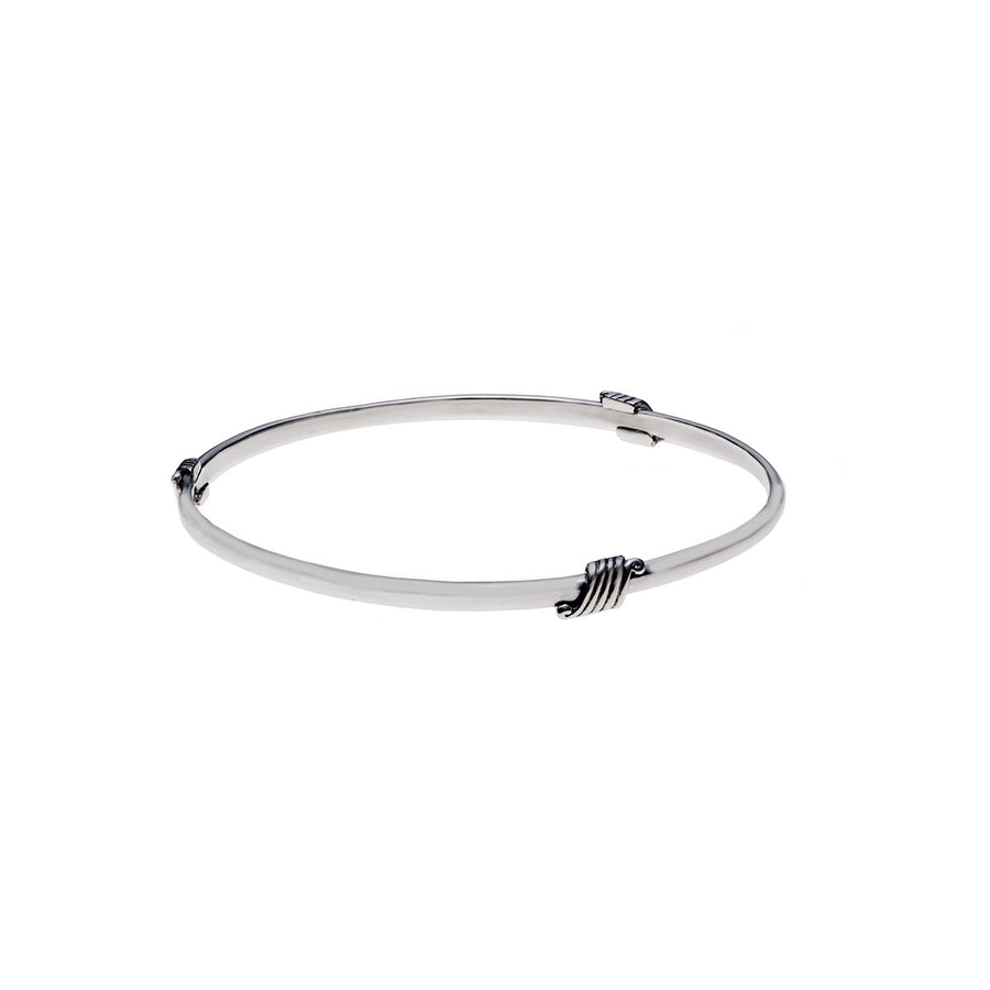 Elements Wind Sterling Silver Bangle - Cynthia Gale New York Jewelry