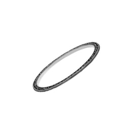 Elements Earth Sterling Silver Bangle - Cynthia Gale New York Jewelry
