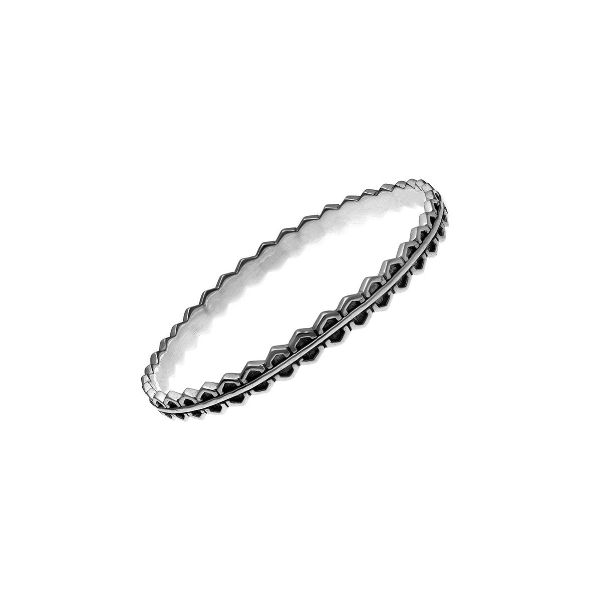 Elements Fire Sterling Silver Bangle - Cynthia Gale New York Jewelry