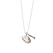 Artist Sterling Silver Gold Charm Necklace