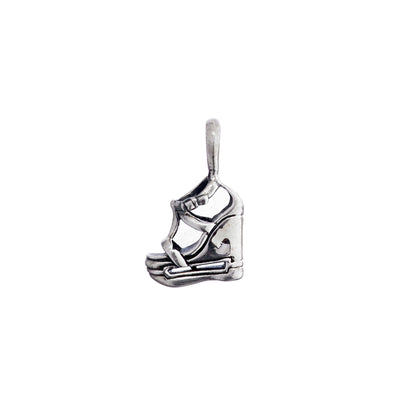 Walk On The Wild Side Platform Wedge Sterling Silver Charm