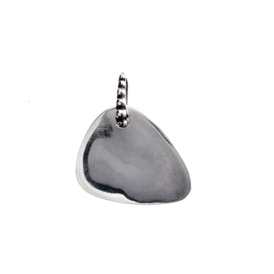 Rock 'N Roll Air Guitar Pick Sterling Silver Charm