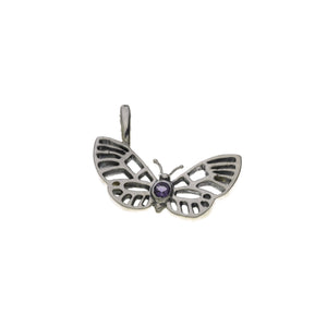 Butterflies And Free Sterling Silver Amethyst Charm - Cynthia Gale New York