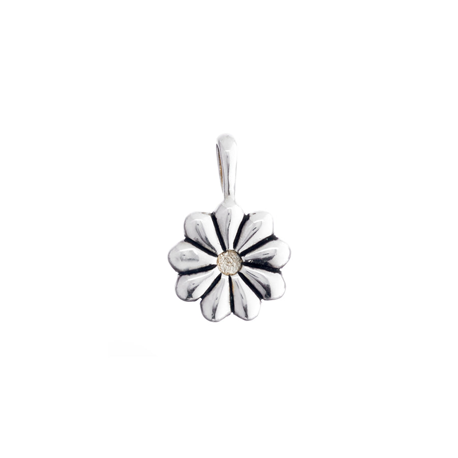 Sweet As Daisy May Sterling Silver Gold Charm